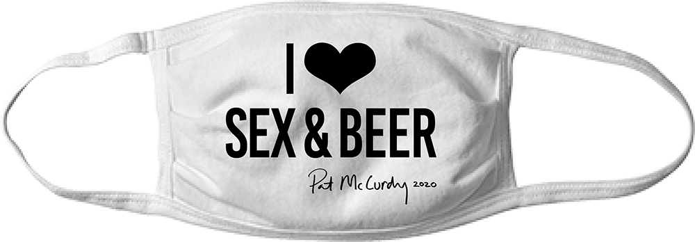 I Heart Sex & Beer Mask